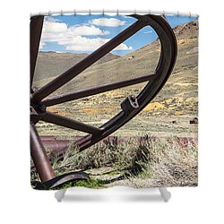 Shower Curtain featuring the photograph Relics Of Bodie by Steven Bateson