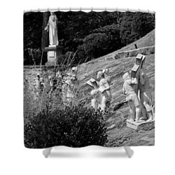 Religious Statues Shower Curtain