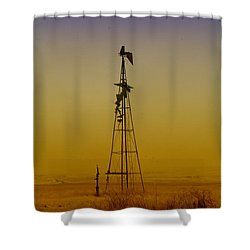 Remains Of An Old Windmill  Shower Curtain by Jeff Swan