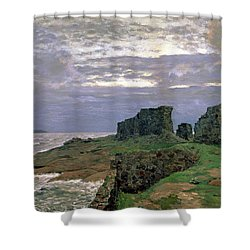 Remains Of Bygone Days Shower Curtain by Isaak Ilyich Levitan