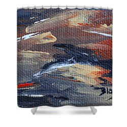 Remains Of The Day Shower Curtain by Donna Blackhall