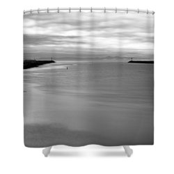 Remains Of The Storm Shower Curtain by Heidi Smith
