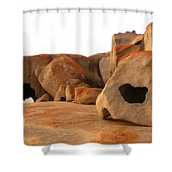 Shower Curtain featuring the photograph Remarkable Rocks by Evelyn Tambour