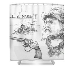 Remember The Maine Shower Curtain