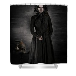 Remember Your Mortality Shower Curtain by Lourry Legarde