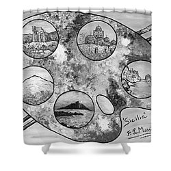 Shower Curtain featuring the painting Remembering Sicily by Loredana Messina