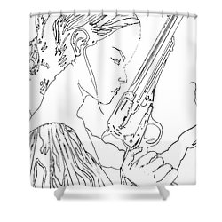 Remembering The Face Of Our Father Iced Edtion Shower Curtain