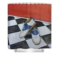 Remembering The Saddle Shoes Shower Curtain by Kelly Mills