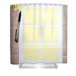 Reminder Notes Shower Curtain by Tim Hester