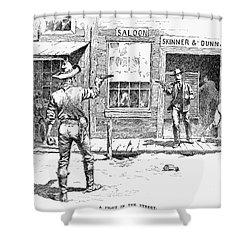 Remington: Duel Shower Curtain by Granger