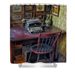 Remington Noiseless No 6 Typewriter Shower Curtain by Susan Candelario