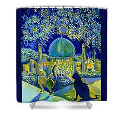 Reminiscences Of Asia. Bed Time Story Shower Curtain