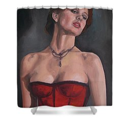 Reminiscent Love Shower Curtain by Jindra Noewi