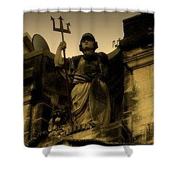 Shower Curtain featuring the photograph Trident To The Sky by Salman Ravish