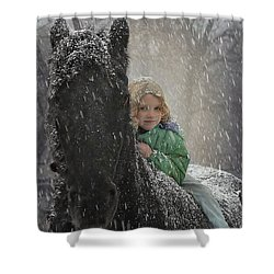 Remme And Rory Shower Curtain by Fran J Scott