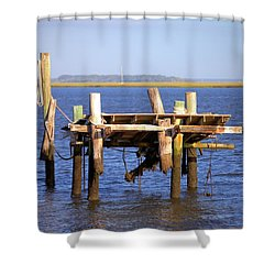 Shower Curtain featuring the photograph Remnants by Gordon Elwell