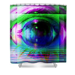 Remote Viewing Shower Curtain by Elizabeth McTaggart