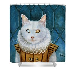 Renaissance Cat Shower Curtain by Terry Webb Harshman