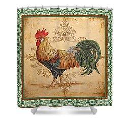 Renaissance Rooster-a-green Shower Curtain