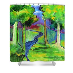 Rendezvous Triptych Shower Curtain by Elizabeth Fontaine-Barr