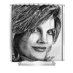 Rene Russo In 1999 Shower Curtain by J McCombie