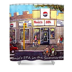Renie's Spa In Summertime Shower Curtain