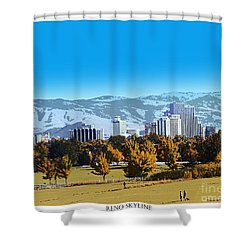 Reno Skyline From Rancho San Rafael Shower Curtain