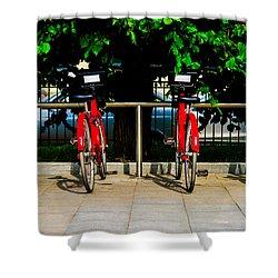 Rent-a-bike - Featured 3 Shower Curtain by Alexander Senin