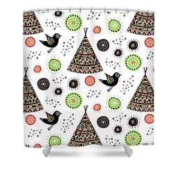 Repeat Print - Wild Night Shower Curtain by Susan Claire