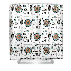 Repeat Print - Wild Shower Curtain by Susan Claire