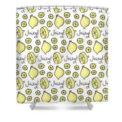 Repeat Prtin - Juicy Lemon Shower Curtain by Susan Claire