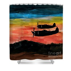 Republic P-47 Thunderbolts Shower Curtain