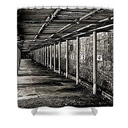 Shower Curtain featuring the photograph Reserved Parking In Bw by Greg Jackson