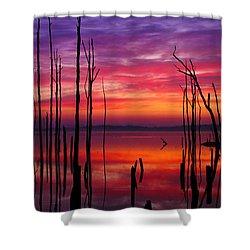 Reservoir At Sunrise Shower Curtain