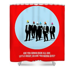 Reservoir Dogs Poster 1 Shower Curtain by Naxart Studio
