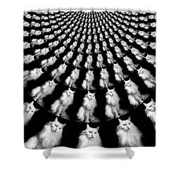 Resistance Is Futile Shower Curtain by Aurelio Zucco