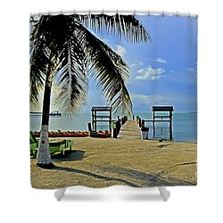 Resort II Shower Curtain by Bruce Bain
