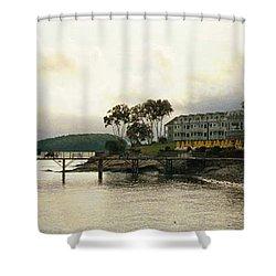 Resort In Bar Harbor Shower Curtain