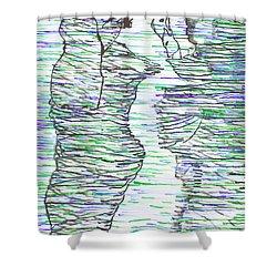 Ressurection Shower Curtain by Gloria Ssali