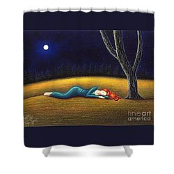 Rest For A Weary Heart Shower Curtain