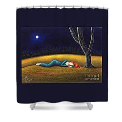 Rest For A Weary Heart Shower Curtain by Danielle R T Haney