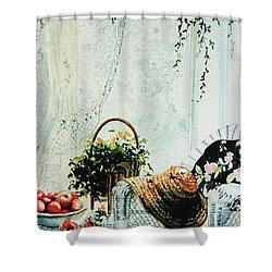 Rest From Garden Chores Shower Curtain by Hanne Lore Koehler
