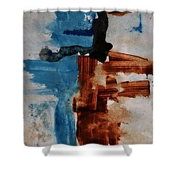Restart Shower Curtain by Andrea Anderegg
