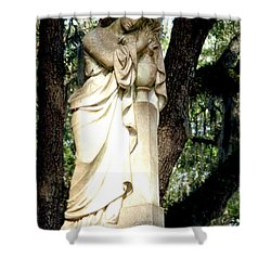 Restful Guardian Shower Curtain