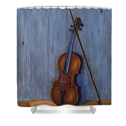 Resting Violin Shower Curtain