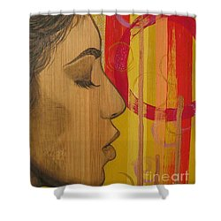 Shower Curtain featuring the mixed media Restless In Wonderment 3 by Malinda  Prudhomme