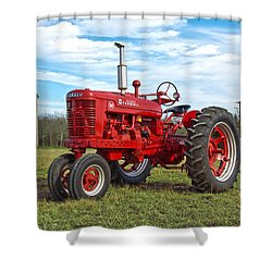 Restored Farmall Tractor Shower Curtain by Charles Beeler