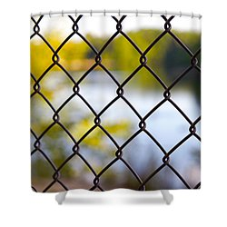Restricted Access Shower Curtain by Michelle Joseph-Long
