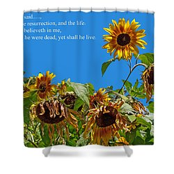 Resurrected Life Shower Curtain by Tikvah's Hope