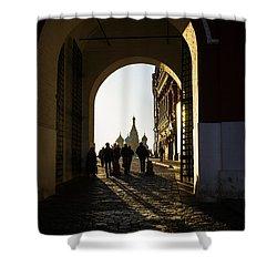 Resurrection Gate Shower Curtain by Alexander Senin